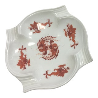Red & White Porcelain Bowl