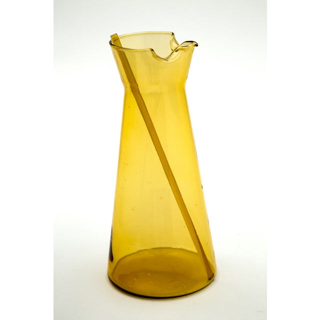 Holmegaard Amber Glass Pitcher - Image 2 of 6