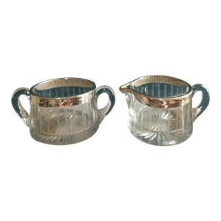 1930s Sugar Bowl & Creamer - A Pair