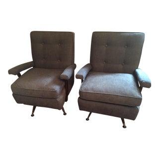 Mid Century Modern Swivel Rocker Chairs - Pair