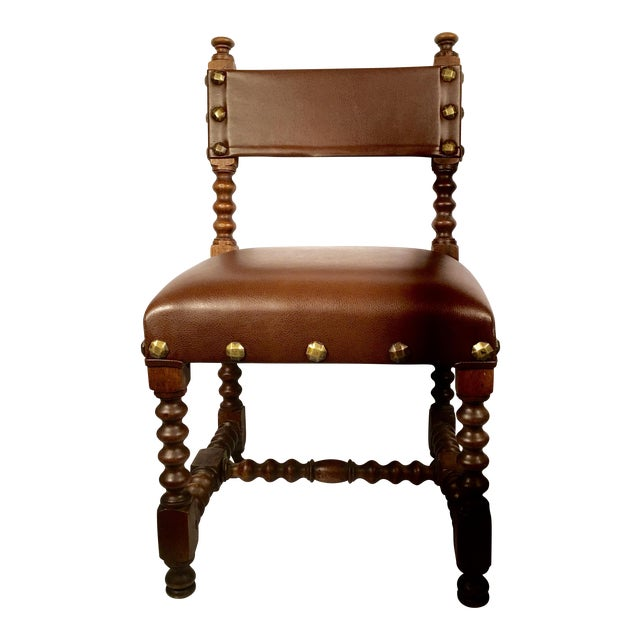 Leather & Brass Child's Chair - Image 1 of 3