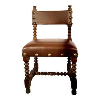 Leather & Brass Child's Chair