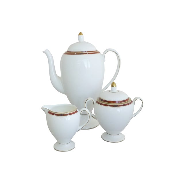 "Wedgwood ""Colorado Gold"" Coffee Set - Image 1 of 4"