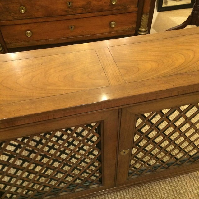 Baker Walnut Mirrored Credenza Console Cabinet - Image 5 of 8