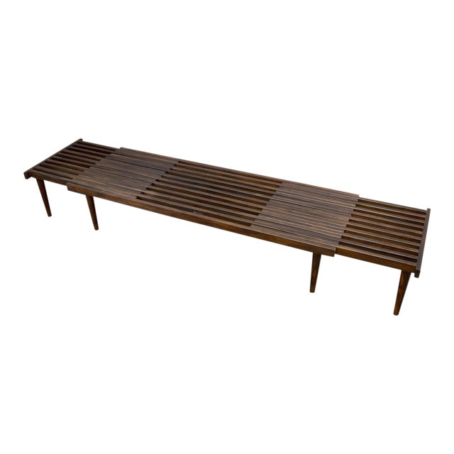 On Hold - John Keal for Brown Saltman Mid-Century Expandable Slat Bench or Table - Image 1 of 10