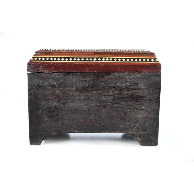 19th Century Syrian Inlaid Wooden Treasure Chest - Image 5 of 9