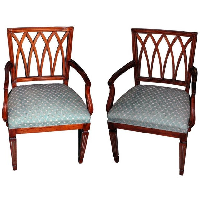 Image of Pair of Gustavian Chairs, Circa 1900