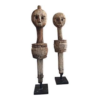 Vintage Wooden Sculptures - A Pair