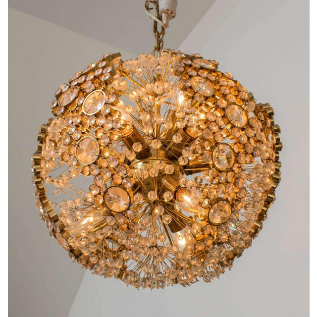 Gilt Brass J.L. Lobmeyr Chandelier - Image 6 of 9