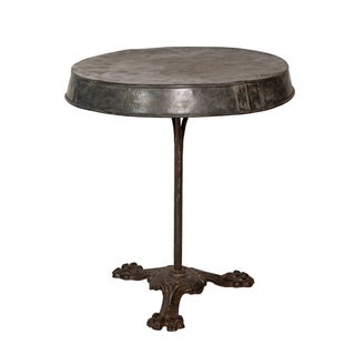 French Zinc-Topped Table