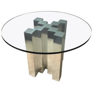 Paul Mayen Aluminum Skyscraper Dining Table