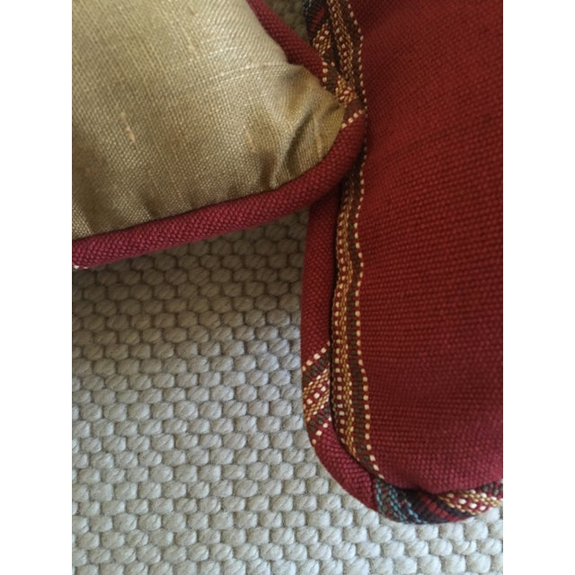 Red Southwestern Stripe Pillows - A Pair - Image 5 of 9