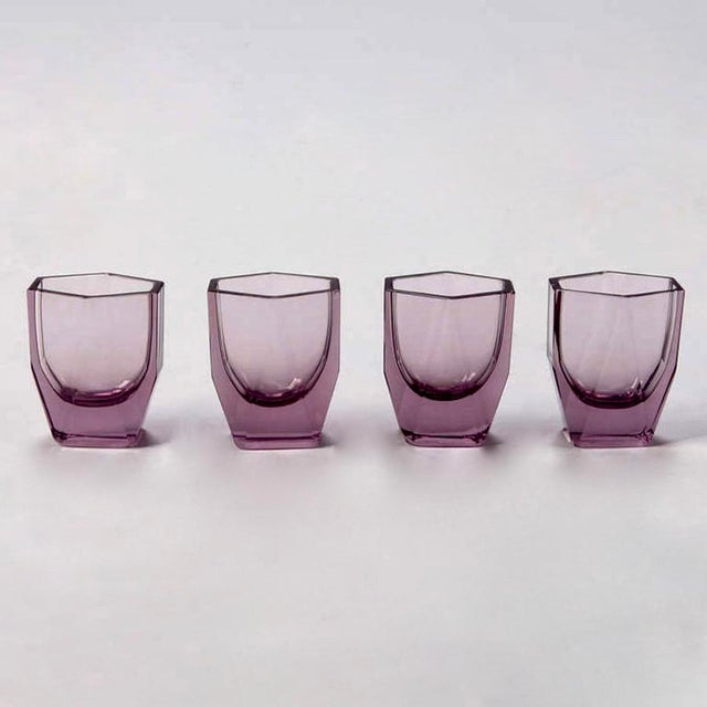 Art Deco Amethyst Glass Decanter and Glasses - Set of 5 - Image 8 of 8