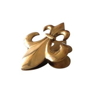 Brass Fluer De Lys Letter Clip