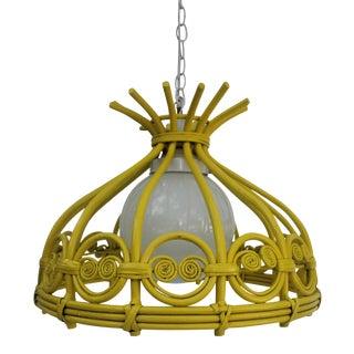 Vintage Rattan Hanging Pendante Lamp
