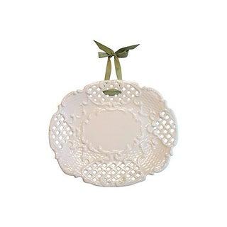 Milk Glass Decorative Plate