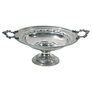 Antique Polished Nickel and Bronze Compote