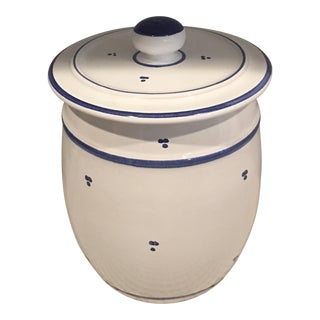 Blue & White Ceramic Canister