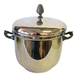 Vintage Silver Plated Glass Lined Ice Bucket