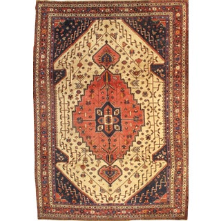 "Pasargad NY Semi-Antique Persian Shiraz Afshar Lamb's Wool Rug - 8'3"" x 11'6"""