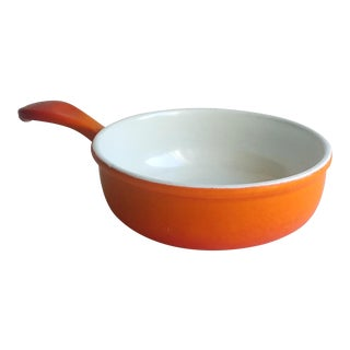 Orange Ombre Cast Iron Enamel Sauce Pan Skillet