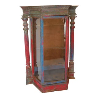 Large-Scale Antique Saint Display Case
