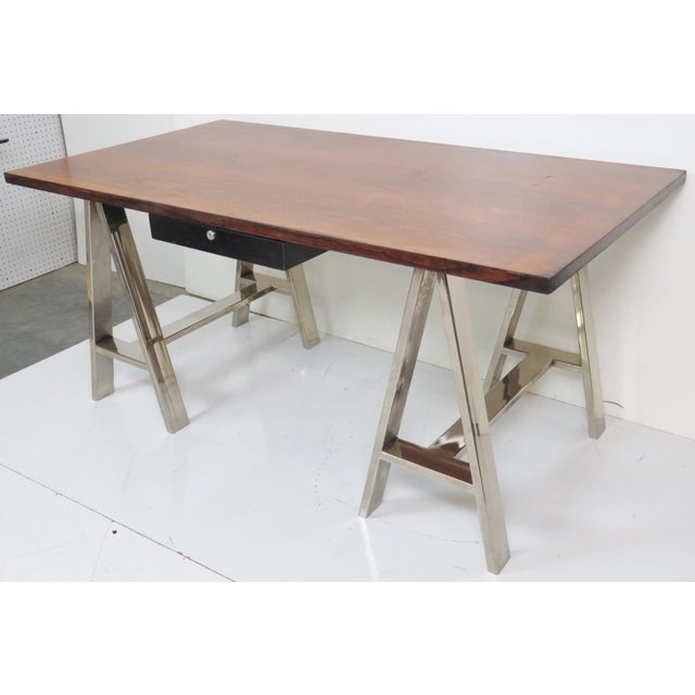 Modern Design Sawhorse Leg Desk - Image 4 of 6