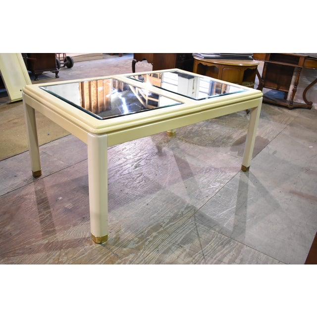 Vintage Milano by Stanley Mirror Top Dining Room Table - Image 3 of 11