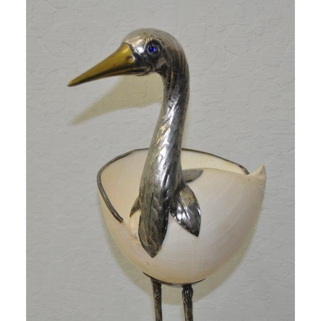 Silverplate & Shell Stork by Gabriella Binazzi - Image 4 of 7