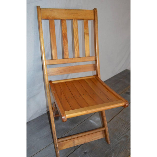 Image of Set of (8) Early Maple Folding Chairs (More Avail)