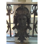 Image of Antique Marble Top Console Table