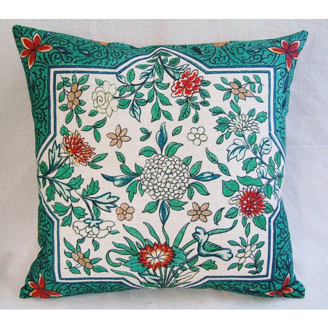 Spring Floral Blossom Feather/Down Linen Pillow - Image 3 of 4