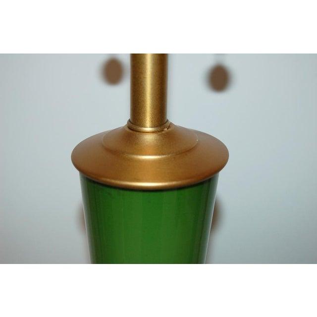 Marbro Handblown Swedish Green Lamps - Image 7 of 8