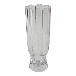 Block Crystal Company Scalloped Vase