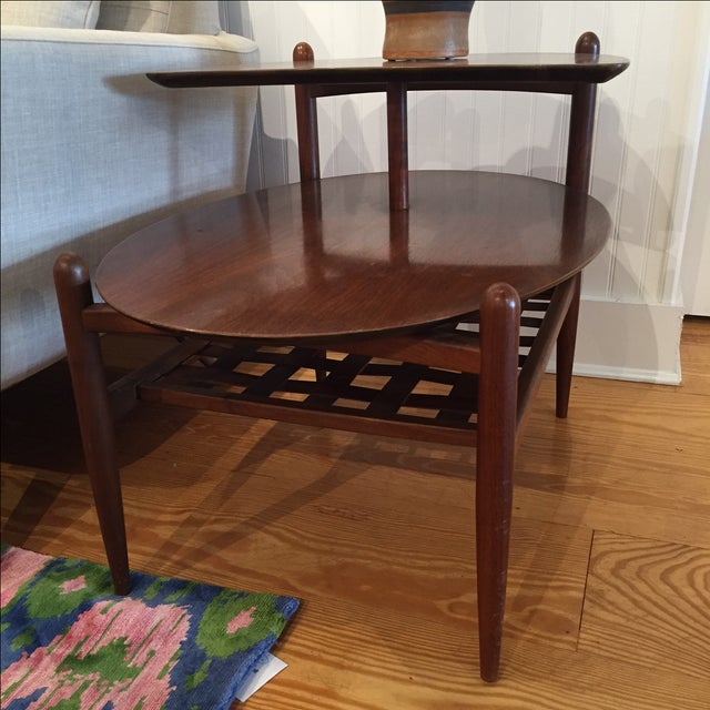 Lane Walnut Side Tables - Pair - Image 3 of 6