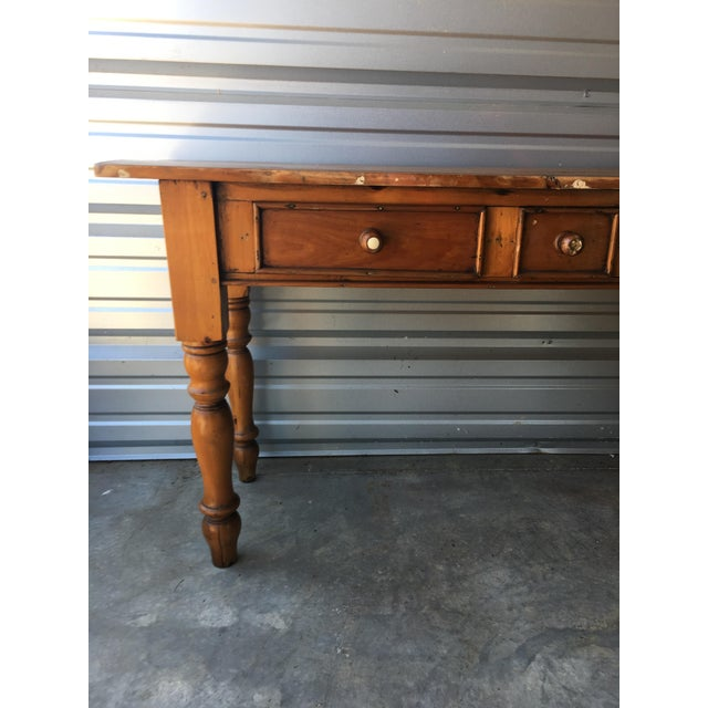 Rustic Handmade Console Table - Image 4 of 11