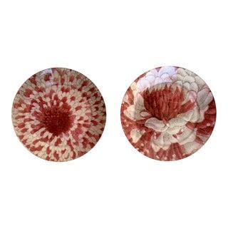 John Derian Decoupage Floral Plates - A Pair