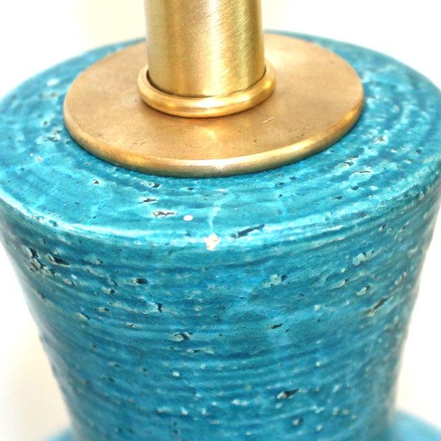Bitossi Raymor Rimini Blue Pottery Lamp - Image 6 of 7