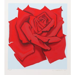 """Red Rose From the Stamps Series"" Print"