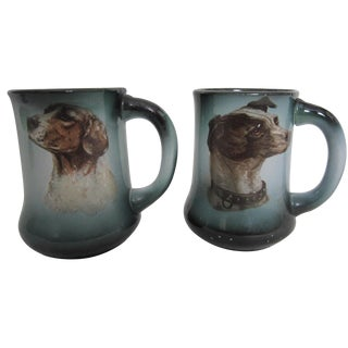 English Dog Mugs - A Pair