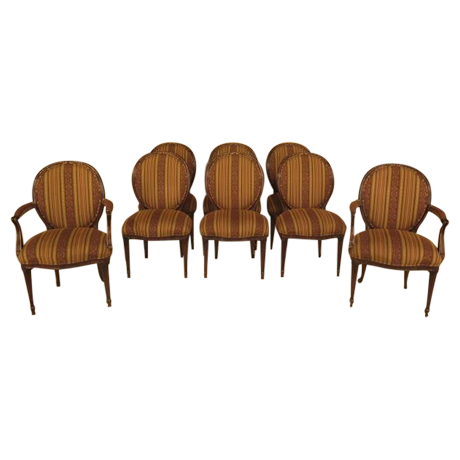 EJ Victor Regency Dining Room Chairs   Set Of 8