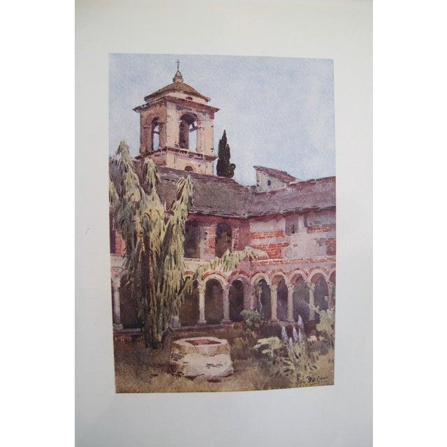 1905 Ella du Cane Print, Il Chiostro di Piona, Lago di Como - Image 2 of 5