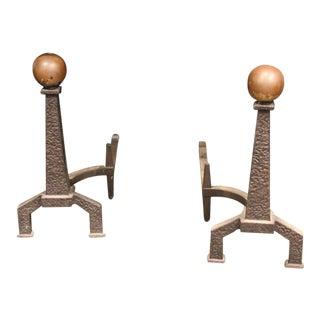 Arts & Crafts Andirons - A Pair