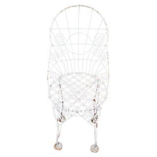 French Wire Garden Chair