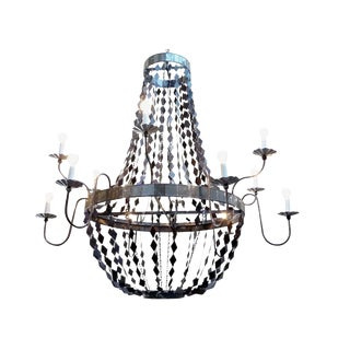 Metal & Mirror Margaret Chandelier