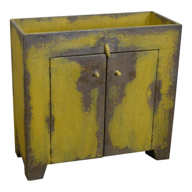 Primitive Distressed Painted Country Small Dry Sink Cabinet - Image 1 of 11