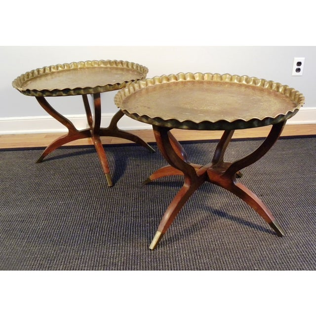 Vintage Moroccan Tea Tables/End Tables-A Pair - Image 3 of 5