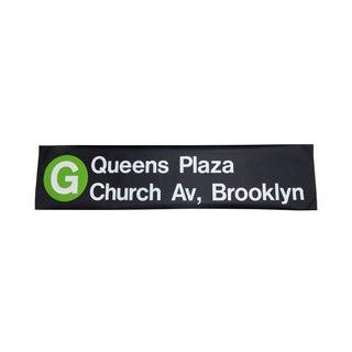 """1980s New York """"G"""" Train Subway Sign"""