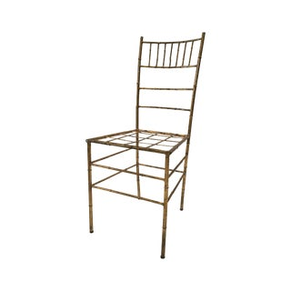 Gilded Faux Bamboo Accent Chair