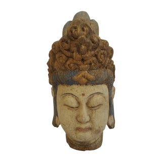Carved Wooden Quan Yin Bust